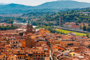 Oltrarno Florence city view