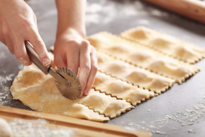 Scarola Puff pastry preparation
