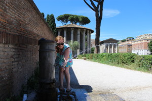 rome drinking fountains trick