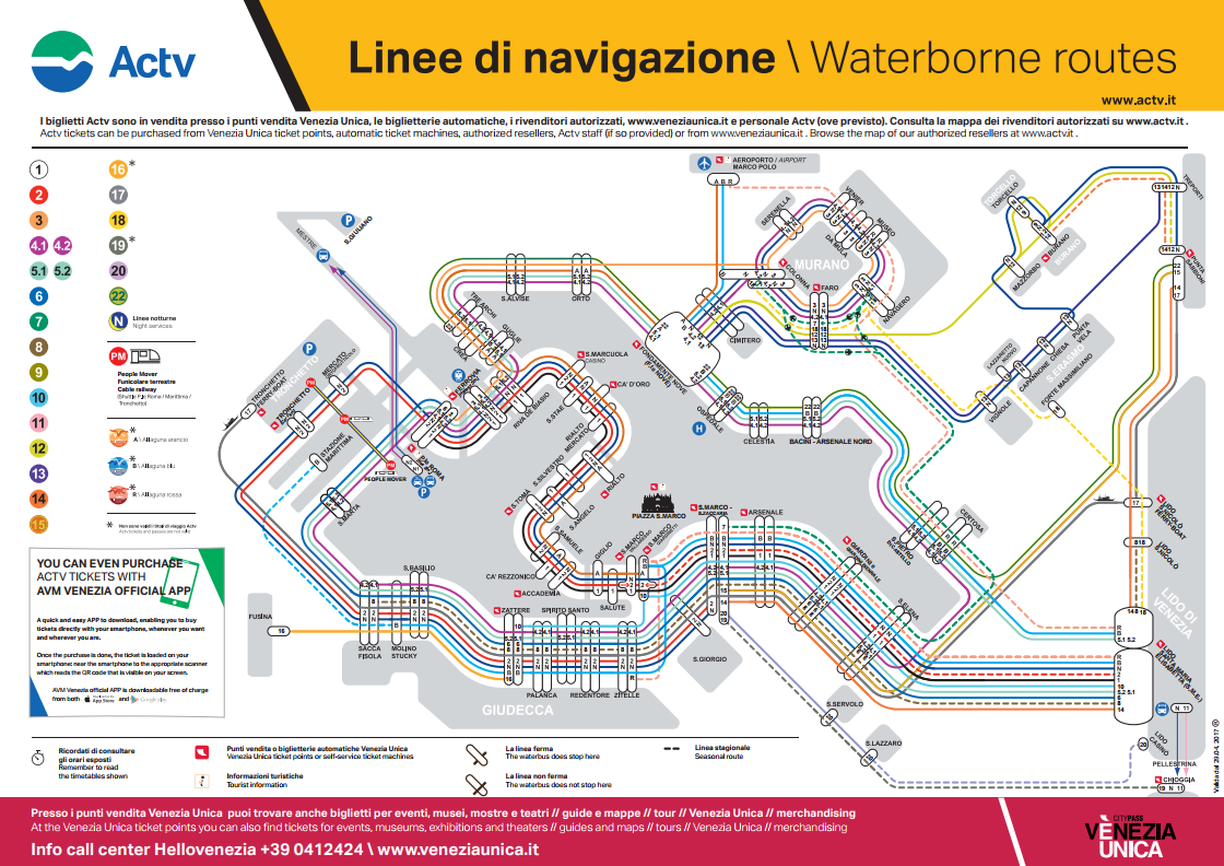 venice waterbus maps