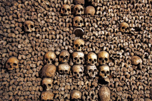 Rome Catacombs Night Tour - skeletons - LivItaly Tours