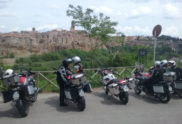 Motorcycle tour of Tuscany