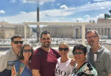 Small group top to bottom St Peter's Basilica