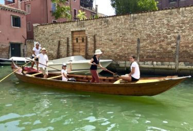 Rowing class in Venice: Lessons in the Grand Canal