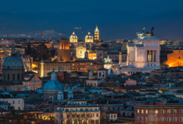 Evening Drinks & Golf Cart Tour Rome-Small Group